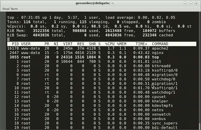 linux top utility